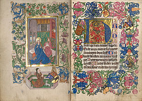 The prayer book is a characteristic product of the art of illumination of the lower Rhine area in the 15th century (Worlds of images, part 1 – Luxury books) | © BSB/ Cgm 84