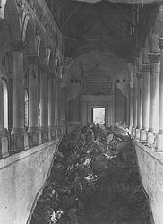 Bayerische Staatsbibliothek – destroyed main staircase, around 1945 | © BSB/ Image archive
