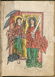 Annunciation to Maria – Psalter from the Munich Franciscan monastery | © BSB/ Clm 8713