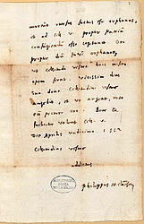 The Camerarius collection with correspondence between important persons from the time of the Reformation, i.a. of Philipp Melanchthon | © BSB/ Clm 10356(1