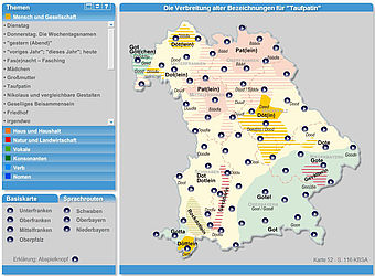 "The ""Sprechender Sprachatlas Bayern"" (Speaking Linguistic Atlas of Bavaria) documents the diversity of Bavarian dialects on the basis of audio examples 