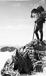 Mountaineer on the Zugspitze, photograph, around 1925 | © BSB/ Image archive
