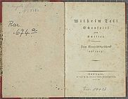 "Returned Nazi loot: First edition of Friedrich Schiller's ""Wilhelm Tell"", 1805 