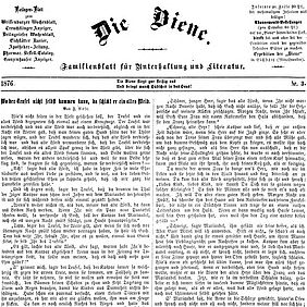 Die Biene: A family magazine for entertainment and literature (1876) | © BSB