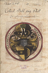 Escutcheon exlibris Georg Herman | © BSB