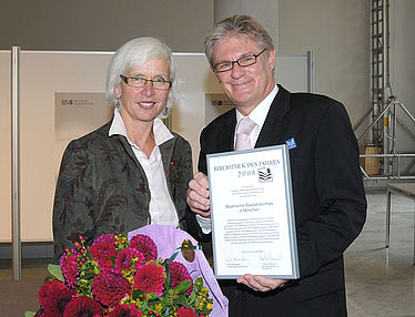 "The Bayerische Staatsbibliothek is awarded the title ""Library of the Year 2008"" 