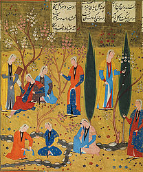Manuscript with five illustrated works of the poet Niẓāmī. Iran, 1501 | © BSB/ Cod.pers. 21 (sheet 125r, detail)