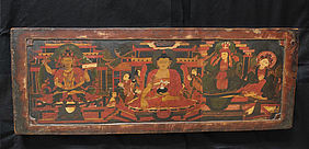 Artistically painted Tibetan book cover, 15th/ 16th century | © BSB/ Public Relations