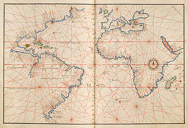 Nautical atlas by the Genoese cartographer Battista Agnese | © BSB/ Cod.icon. 136