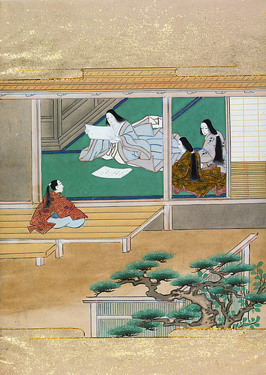 Genji kokagami, richly illustrated, dating back to between 1673 and 1681 | © BSB/Cod.jap. 14