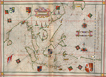 Portolan atlas by Fernão Vaz Dourado, drawn in Goa in 1580 | © BSB/ Cod.icon. 137