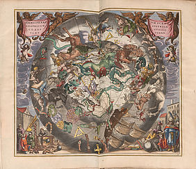 Andreas Cellarius: Harmonia macrocosmica. Celestial atlas. Amsterdam: Johannes Janssonius, 1661 | © BSB – Amberg, Provincial Library, classification mark Geogr. 510