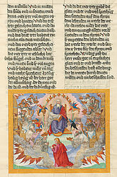 Vision of heaven of John in a representation in the Ottheinrich Bible | © BSB/ Cgm 8010(8