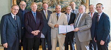 The cooperation partners with Minister of Science Spaenle | © Bavarian Academy of Sciences / A. Heddergott