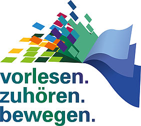 Reading-out initiative vorlesen.zuhören.bewegen, logo