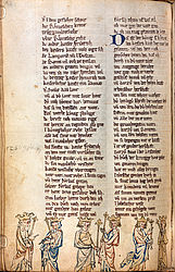 The six Staufen rulers from Conrad III to Conrad IV – Rudolf von Ems: Chronicle of the World | © BSB/ Cgm 8345