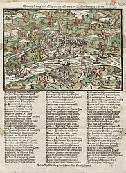 Warhafftigt Zeitung von der Belgtrung und in Nemung der Stat Bon (True news of the siege and capture of the city of Bonn) | © BSB/ Einbl. XI,1031