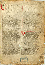 Song of the Nibelungs (main manuscript A) | © BSB/ Cgm 34