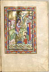 Entry of Jesus into Jerusalem on Palm Sunday – Evangeliary from Altomünster (Bridgettine order) | © BSB/ Clm 2939