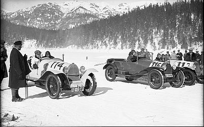 Car race on the Eibsee, February 1929 | © BSB/ Image archive