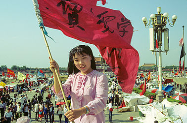 Protesting student on Tiananmen Square in Beijing (1989) | © BSB/ STERN Photo Archive/ Harald Schmitt