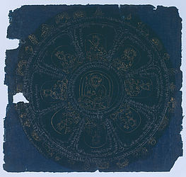 Tibetan mandala drawing, around 14th century | © BSB/Cod.tibet. 497