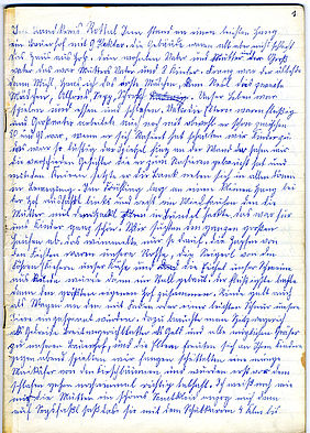 "Handwritten manuscript of the autobiography ""Herbstmilch"" 