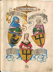 Lines related to the Fugger family – Book of honour of the Fugger family | © BSB/ Cgm 9460