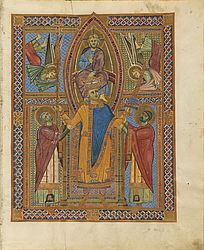 Coronation of Henry II by Christ – Sacramentary of Henry II | © BSB/ Clm 4456