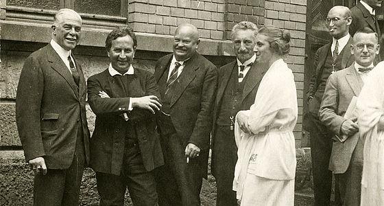 Heinrich Kaminski (zweiter von links) in Donaueschingen, 1925 |© BSB/Bildarchiv