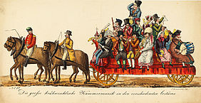 Bamberg carnival. The big public masquerade on horse and on floats on Shrove Monday, 1837. Bamberg: Johann Baptist Lachmüller, 1837 | © BSB – Bamberg, State Library, classification mark MvO.Bamb.f.15