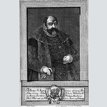 Duke Albrecht V (1528 – 1579), copper engraving by J. A. Zimmermann, 1723 | © BSB/ Image Archive