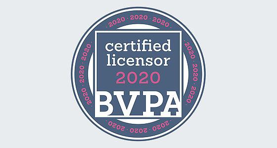 "Gütesiegel ""Certified Licensor"" des Bundesverbands Professioneller Bildanbieter | © Bundesverband Professioneller Bildanbieter"