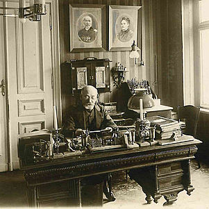 Zamenhof seated at his desk | © BSB/ Plansprachensammlung Haupenthal