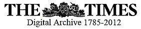 The Times Digital Archive, Logo | © Gale Cengage Learning