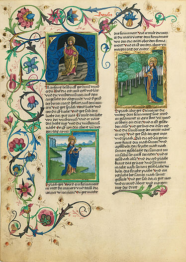 Illuminierte Seite in der Furtmeyr-Bibel | © BSB/Cgm 8010 a