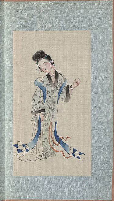 Chinese pen-and-ink drawings with depictions of women | © BSB/Cod.sin. 2932