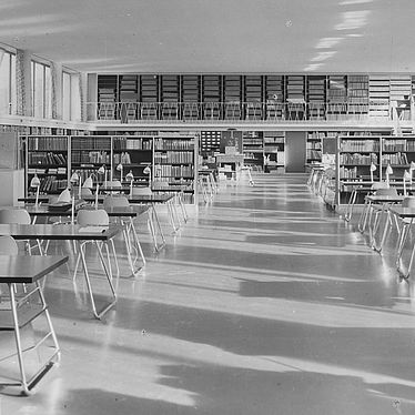 East European, Oriental and Asian Reading Room, photograph of around 1954 | © BSB/ Image archive