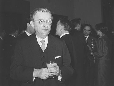 Friedrich Klingner (philologist 1894 – 1968) at the transfer of the rector's office at the Ludwig-Maximilians University of Munich on 21 November 1964 | © BSB/ Image archive