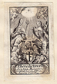 Monastery exlibris, St. Ulrich and Afra