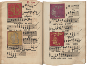 Heinrich Isaac (around 1450 – 1517), four-part setting of the Credo. Munich (court music ensemble), around 1525 | © BSB/ Mus.ms. 53
