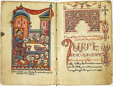 Two-part Armenian manuscript, consisting of a breviary and mass liturgies | © BSB/ Cod.armen. 6