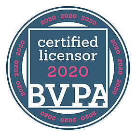 "Seal of quality ""Certified Licensor"" of the BVPA 