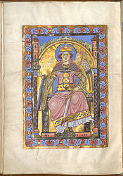 Enthroned Ecclesia – Passau evangeliary | © BSB/ Clm 16002