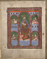 King David with the lyre – Eberhard psalter | © BSB/ Clm 7355