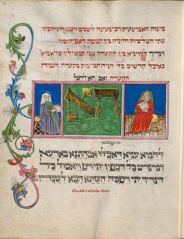 Passah Haggadah. Bavaria, last quarter of the 15th century | © BSB/ Cod.hebr. 200