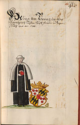 Genealogy and heraldry: Coloured illustration of the coat of arms of Uta von Törring, from the genealogy of the Bavarian nobility by Johann Michael Wilhelm von Prey | © BSB/ Cgm 2290(27