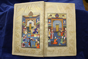 Poetry manuscript of the Persian poet Ahli Shirazi (1454 – 1535) | © BSB/ Cod.pers. 539