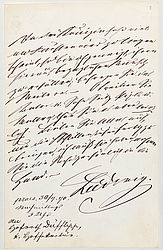 Letter by King Ludwig II to Councillor Lorenz von Düfflipp, 30 July 1870 | © BSB/ Autogr.Cim. Ludwig 8