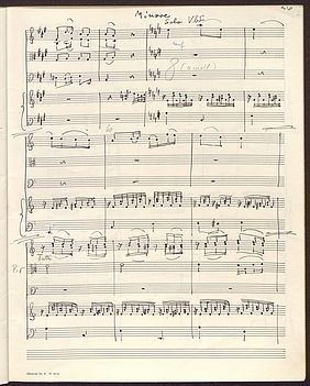"Second movement ""Grazioso"", Minore part, from the piano concert D major by Friedrich Hartmann Graf (1727 – 1795) after a piano reduction arranged and orchestrated by Karl Erhard (1955) 